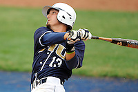 17 April 2010:  FIU's Junior Arrojo (13) bats in the sixth inning as the FIU Golden Panthers defeated the University of New Orleans Privateers, 6-4, at University Park Stadium in Miami, Florida.