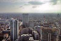 - Milano, veduta dalla terrazza panoramica del palazzo Regione Lombardia, i grattacieli torre Galfa e Pirelli<br /> <br /> - Milan, view from the rooftop terrace of Lombardia Region tower, the Galfa tower and Pirelli skyscrapers