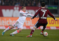 FUSSBALL   1. BUNDESLIGA  SAISON 2012/2013   12. Spieltag 1. FC Nuernberg - FC Bayern Muenchen      17.11.2012 Xherdan Shaqiri (li, FC Bayern Muenchen) gegen Markus Feulner (1 FC Nuernberg)
