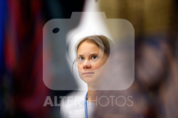 Greta Thunberg during the press conference in Mocha hall during the seventh day of COP25 Chile-Madrid in Madrid, Spain on Dec 09, 2019. (ALTERPHOTOS/Manu R.B.)
