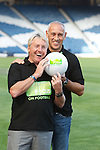Old Firm stars Frank McAvennie and Mark Hateley with the Focus on Football initiative at Hampden
