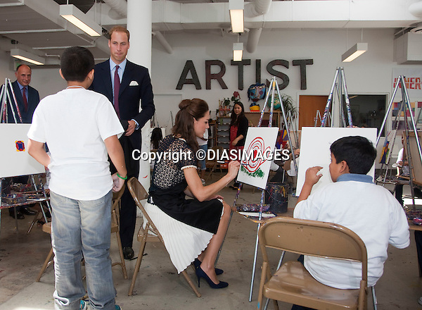 "PRINCE WILLIAM & KATE - CALIFORNIA, USA.The Duke and Duchess visit The Inner City Arts Youth Project, in Los Angeles, and take part in painting, and clay modeling with the students, Los Angeles_10/07/2011.Mandatory Credit Photo: ©DIASIMAGES. .**ALL FEES PAYABLE TO: ""NEWSPIX INTERNATIONAL""**.No Uk Usage until 7/8/2011.IMMEDIATE CONFIRMATION OF USAGE REQUIRED:.DiasImages, 31a Chinnery Hill, Bishop's Stortford, ENGLAND CM23 3PS.Tel:+441279 324672  ; Fax: +441279656877.Mobile:  07775681153.e-mail: info@newspixinternational.co.uk"
