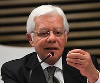 .ATENCAO EDITOR: FOTO EMBARGADA PARA VEICULO INTERNACIONAL - SAO PAULO, SP, 10 DEZEMBRO 2012 - A INFLUENCIA DO BRASIL NO SISTEMA INTERNACIONAL SOFT-POWER -  O ministro Moreira Franco participou do debate sobre o soft power. A iniciativa, idealizada em conjunto com a Secretaria de Assuntos Estrategicos (SAE) da Presidencia da Republica, tem como objetivo a atuacao do Brasil no cenario internacional, com vistas a identificar a capacidade de o pais influenciar acoes politicas sem o uso da forca ou outra forma de coercao, porem lançando mao de estrategias de cooperacao - conceito conhecido como soft-power, na FIESP nessa terca, 11. (FOTO: LEVY RIBEIRO / BRAZIL PHOTO PRESS).