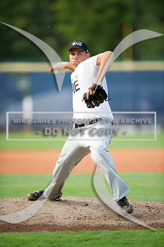Jordan Young #24 during the Team One South Showcase presented by Baseball Factory at Chappell Park on July 14, 2012 in Atlanta, Georgia.  (Copyright Mike Janes Photography)
