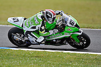 PHILLIP ISLAND, 27 FEBRUARY - Bryan Staring (AUS) riding the Kawasaki ZX-10R (67) of the Team Pedercini during race one of round one of the 2011 FIM Superbike World Championship at Phillip Island, Australia. (Photo Sydney Low / syd-low.com)