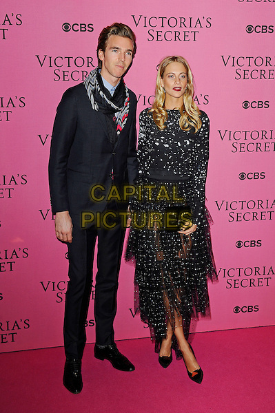 LONDON, ENGLAND - DECEMBER 2: James Cook and Poppy Delevingne attend the pink carpet for Victoria's Secret Fashion Show 2014, Earls Court on December 2, 2014 in London, England.<br /> CAP/MAR<br /> &copy; Martin Harris/Capital Pictures