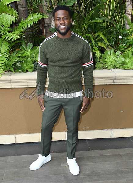 """30 October 2018 - Beverly Hills, California - Kevin Hart. """"The Upside"""" Photo Call held at The Four Seasons at Beverly Hills . Photo Credit: Birdie Thompson/AdMedia"""
