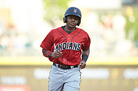 Ke'Bryan Hayes (24) of the Indianapolis Indians during the game against the Charlotte Knights at BB&T BallPark on April 27, 2019 in Charlotte, North Carolina. The Indians defeated the Knights 8-4. (Brian Westerholt/Four Seam Images)