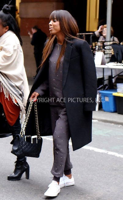 WWW.ACEPIXS.COM<br /> <br /> October 27 2015, New York City<br /> <br /> Musician Kelly Rowland was out in Soho on October 27 2015 in New York City<br /> <br /> Please byline: Curtis Means/ACE Pictures<br /> <br /> Ace Pictures, Inc:  <br /> tel: (646) 769 0430<br /> e-mail: info@acepixs.com<br /> web: http://www.acepixs.com