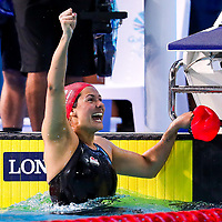 Picture by Alex Whitehead/SWpix.com - 05/04/2018 - Commonwealth Games - Swimming - Optus Aquatics Centre, Gold Coast, Australia - Aimee Willmott of England wins Gold in the Women's 400m Individual Medley final.