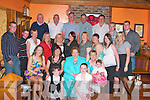 Margaret Broderick, seated front, from Upper Purt,celebrated her 70th birthday with her family at Leen' Hotel, Abbeyfeale on Saturday night..   Copyright Kerry's Eye 2008