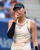 FLUSHING NY- AUGUST 30: Maria Sharapova Vs Timea Babos on Arthur Ashe Stadium during the 2017 US Open Tennis at the USTA Billie Jean King National Tennis Center on August 30, 2017 in Flushing Queens. Credit: mpi04/MediaPunch ***NO NY DAILIES***
