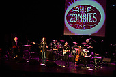 FORT LAUDERDALE, FL - JANUARY 09: Rod Argent, Jim Rodford, Colin Blunstone, Tom Toomey and Steve Rodford of The Zombies perform at The Parker Playhouse on February 9, 2018 in Fort Lauderdale Florida. Credit Larry Marano © 2018