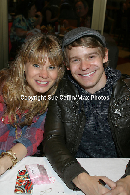 Celia Keenan-Bolger (Peter and the Starcatcher) and brother Andrew (Newsies) at The 26th Annual Broadway Flea Market and Grand Auction to benefit Broadway Cares/Equity Fights Aids on September 23, 2012 in Shubert Alley and Times Square, New York City, New York.  (Photo by Sue Coflin/Max Photos)