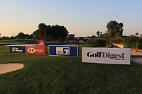 Signs on the 6th green during the Pro-Am of the Abu Dhabi HSBC Championship 2020 at the Abu Dhabi Golf Club, Abu Dhabi, United Arab Emirates. 15/01/2020<br /> Picture: Golffile | Thos Caffrey<br /> <br /> <br /> All photo usage must carry mandatory copyright credit (© Golffile | Thos Caffrey)