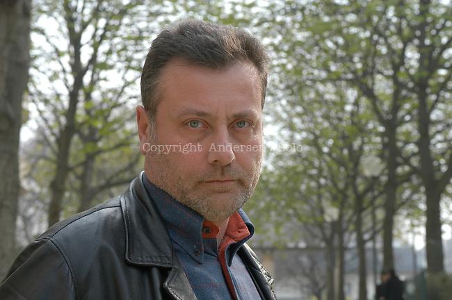 Italian author Massimo Carlotto in Paris, France..