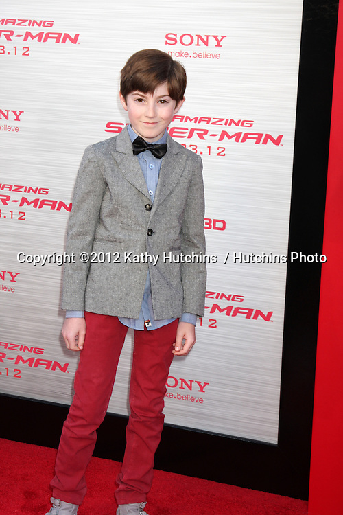 "LOS ANGELES - JUN 28:  Mason Cook arrives at the ""The Amazing Spider-Man"" Premiere at Village Theater on June 28, 2012 in Westwood, CA"