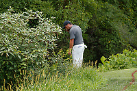 Francesco Molinari (ITA) looks for his lost ball on the 17th hole during the third round of the 100th PGA Championship at Bellerive Country Club, St. Louis, Missouri, USA. 8/11/2018.<br /> Picture: Golffile.ie | Brian Spurlock<br /> <br /> All photo usage must carry mandatory copyright credit (&copy; Golffile | Brian Spurlock)