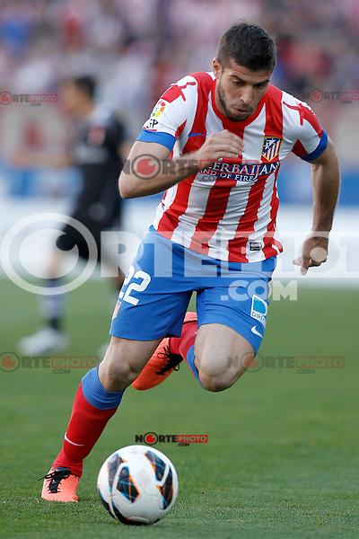 Atletico de Madrid's Emiliano Insua during La Liga match.April 14,2013. (ALTERPHOTOS/Acero)