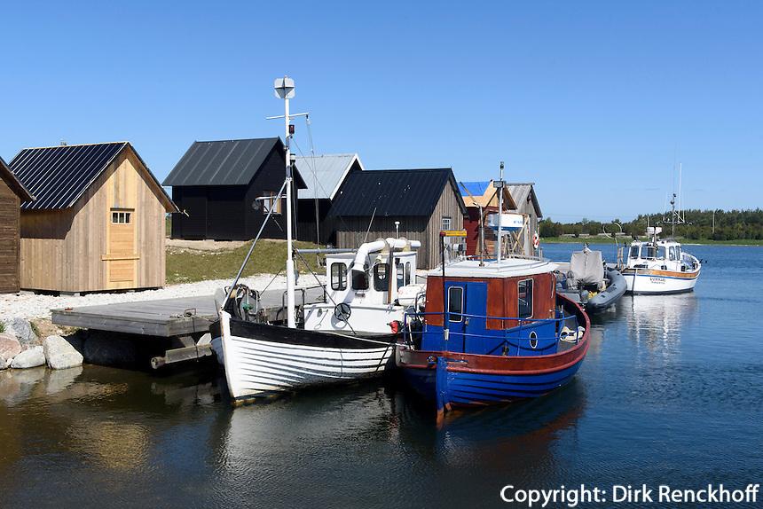 Hafen von Lauterhorn auf der Insel F&aring;r&ouml; bei Gotland, Schweden, Europa<br /> port of Lauterhorn on F&aring;r&ouml; island near Gotland, Sweden