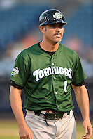 Daytona Tortugas manager Eli Marrero (1) during a game against the Tampa Yankees on April 24, 2015 at George M. Steinbrenner Field in Tampa, Florida.  Tampa defeated Daytona 12-7.  (Mike Janes/Four Seam Images)