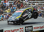 Toomas Heikkinen (57) driver of the Bluebeam/OMSE car, in action during the Global Rally Cross race, the Hoon Kaboom, at Texas Motor Speedway in Fort Worth,Texas. Global Rally Cross driver Marcos Gronholm (3) wins the Hoon Kaboom race..