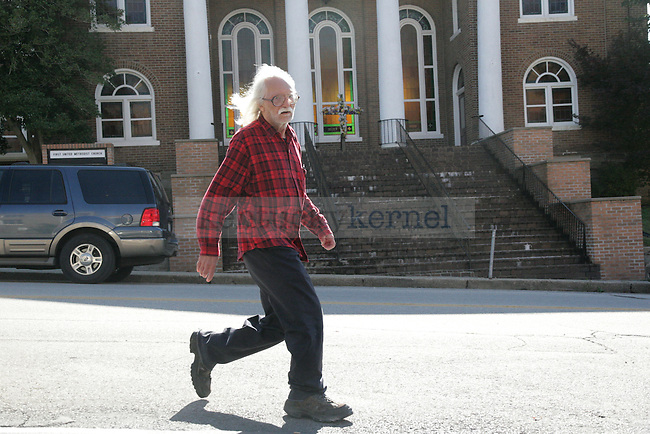 A man walks down College Avenue in Jackson, Ky., in Breathitt County on Friday, Oct. 14, 2011. Photo by Becca Clemons