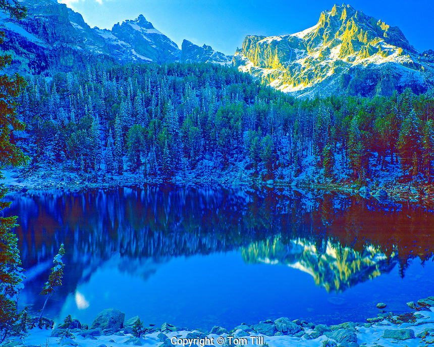 Bradley Lake, Grand Teton National Park, Wyoming, Rocky Mountains, Lake high in Teton Range
