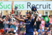 Varun Chopra of Essex celebrates scoring a century, 100 runs during Essex Eagles vs Glamorgan, NatWest T20 Blast Cricket at The Cloudfm County Ground on 16th July 2017