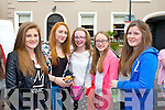 Pictured queuing for the Union J concert at Denny Street on Friday were, from left: Clodagh Bolger (Abbeydorney), Eimear Moylette (England) and Ellie Bolger and Orlagh Moylette and Maisie Falvey (Abbeydorney).