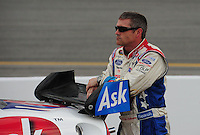May 1, 2009; Richmond, VA, USA; NASCAR Sprint Cup Series driver Bobby Labonte during qualifying for the Russ Friedman 400 at the Richmond International Raceway. Mandatory Credit: Mark J. Rebilas-