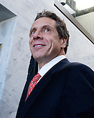 Governor Andrew Cuomo (Democrat of New York) prior to a meeting in U.S. Senator Daniel Inouye's (Democrat of Hawaii) as the governor visits Capitol Hill for a series of meetings with Congressional Leadership on Monday, December 3, 2012..Credit: Ron Sachs / CNP.(RESTRICTION: NO New York or New Jersey Newspapers or newspapers within a 75 mile radius of New York City)