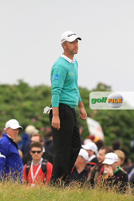 Mark Foster (ENG) on the 2nd during round 4 of the Irish Open at Royal Portrush GC,Portrush,County Antrim,Ireland. 1/7/12.Picture Fran Caffrey www.golffile.ie