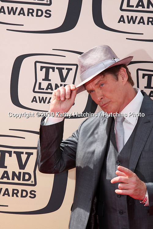 David Hasselhoff.arrives at the 2010 TV Land Awards.Sony Studios.Culver City, CA.April 17, 2010.©2010 Kathy Hutchins / Hutchins Photo...