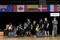 Andrew Edmondson & Ryan Scott (AUS) vs GB<br /> Australian Wheelchair Rugby Team<br /> 2018 IWRF WheelChair Rugby <br /> World Championship / Semi Finals<br /> Sydney  NSW Australia<br /> Thursday 9th August 2018<br /> © Sport the library / Jeff Crow / APC