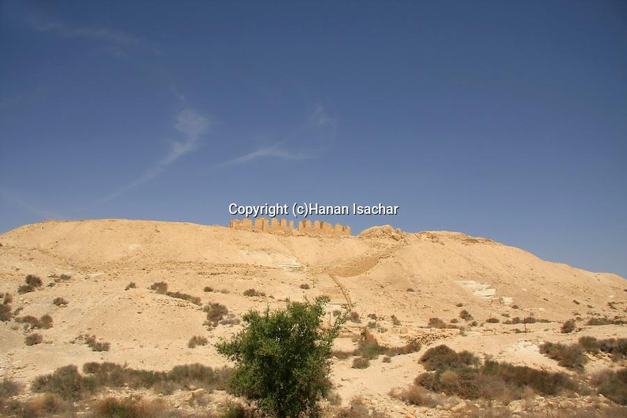 Israel, Negev, a view of Tel Nitzana