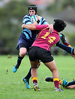 Action during the 1st XV 1A promotion/relegation match between Botany College and Liston College. Botany College, Auckland. Saturday 20 June 2020. Photo: Simon Watts/www.bwmedia.co.nz