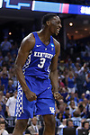 Kentucky Wildcats forward Bam Adebayo reacts after a dunk against the North Carolina Tar Heels during the 2017 NCAA Men's Basketball Tournament South Regional Elite 8 at FedExForum in Memphis, TN on Friday March 24, 2017. Photo by Michael Reaves | Staff