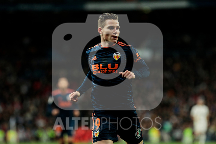 Valencia CF's Kevin Gameiro during La Liga match between Real Madrid and Valencia CF at Santiago Bernabeu Stadium in Madrid, Spain. December 01, 2018. (ALTERPHOTOS/A. Perez Meca)