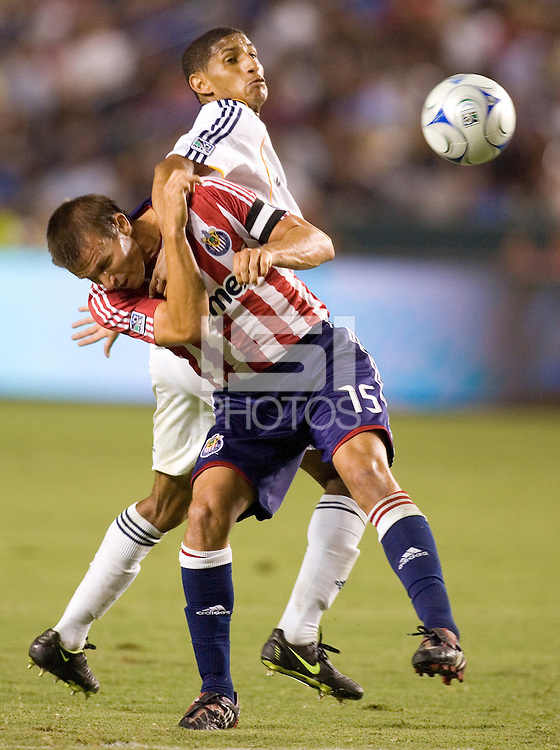 The LA Galaxy and Chivas USA played to a 2-2 draw at Home Depot Center stadium in Carson, California on Thursday, August 14, 2008.