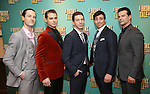 Cary Tedder, Rory Max Kaplan, Keith White, Joseph J. Simeone and Dominic Nolfi attends the Broadway Opening Night After Party for 'A Bronx Tale' at The Marriot Marquis Hotel on December 1, 2016 in New York City.