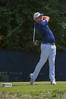 Tyrell Hatton (ENG) watches his tee shot on 9 during 3rd round of the 100th PGA Championship at Bellerive Country Club, St. Louis, Missouri. 8/11/2018.<br /> Picture: Golffile | Ken Murray<br /> <br /> All photo usage must carry mandatory copyright credit (&copy; Golffile | Ken Murray)