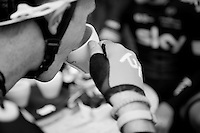 pré-race coffee for Team SKY<br /> <br /> Nokere Koerse 2014