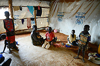UGANDA, Arua, Yumbe, south sudanese refugees in Bidi Bidi refugee settlement , UNHCR reception center / suedsudanesische Fluechtlinge im Fluechtlingslager Bidi Bidi