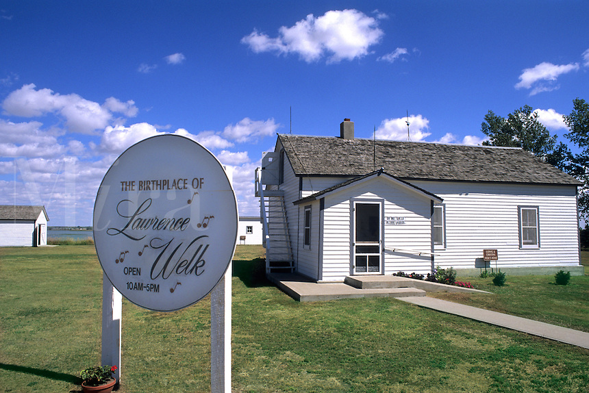 Homestead of the famous band leader Lawrence Welk in Strasburg North Dakota