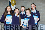 Ellen Dennehy, Allanna Glennon, Lisa Flynn, Niamh Relihan and Lauren Butler at the Castleisland Presentation school awards night on Wednesday evening