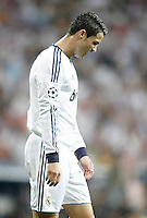 Real Madrid's Cristiano Ronaldo dejected during Champions League match. September 18, 2012. (ALTERPHOTOS/Alvaro Hernandez). /NortePhoto.com<br />