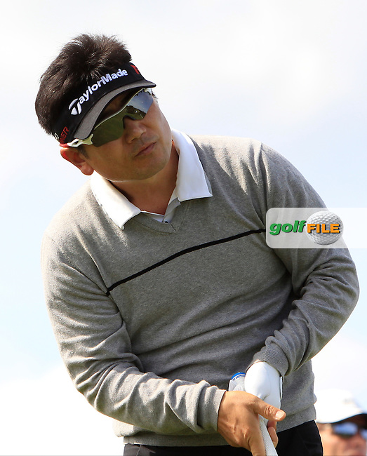 Y.E.Yang (KOR) on the 4th tee during Round 1 of the 2015 KLM Open at the Kennemer Golf &amp; Country Club in The Netherlands on 10/09/15.<br /> Picture: Thos Caffrey | Golffile