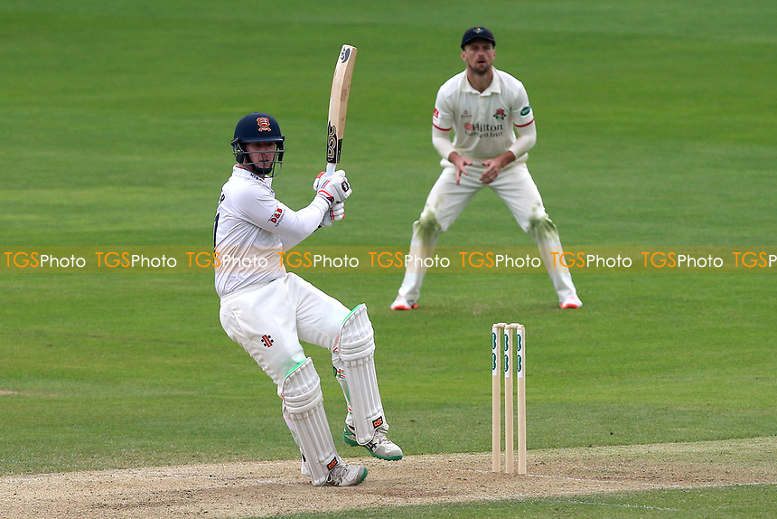 Simon Harmer hits 4 runs for Essex during Essex CCC vs Lancashire CCC, Specsavers County Championship Division 1 Cricket at The Cloudfm County Ground on 21st April 2018