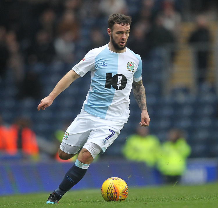 Blackburn Rovers Adam Armstrong<br /> <br /> Photographer Mick Walker/CameraSport<br /> <br /> The EFL Sky Bet Championship - Blackburn Rovers v Ipswich Town - Saturday 19 January 2019 - Ewood Park - Blackburn<br /> <br /> World Copyright &copy; 2019 CameraSport. All rights reserved. 43 Linden Ave. Countesthorpe. Leicester. England. LE8 5PG - Tel: +44 (0) 116 277 4147 - admin@camerasport.com - www.camerasport.com